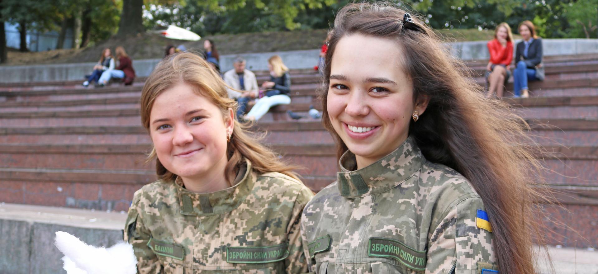Ukrainian army girls