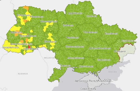 Ukraine Covid-19 zones