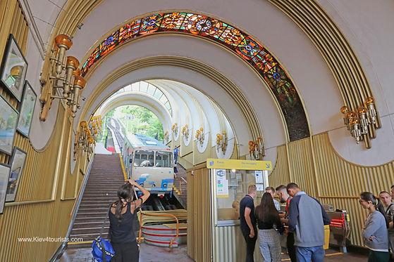Funicular in Kiev Ukraine