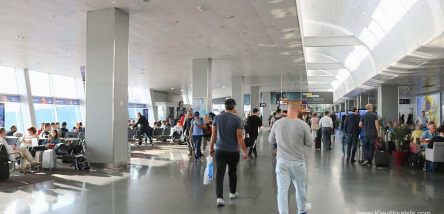 Kiev Zhuliany departure lounge