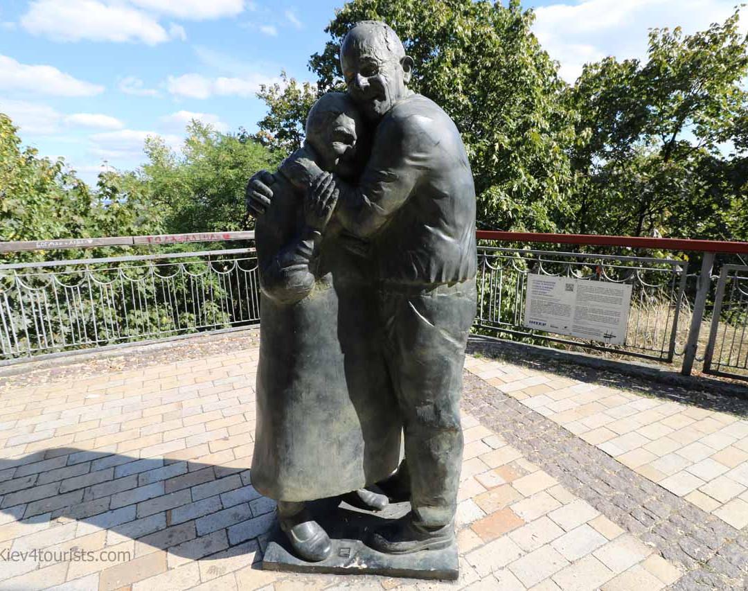 Luigi Peduto, and Mokryna Yurzuk Statue