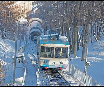 Kiev Funicular in Winter