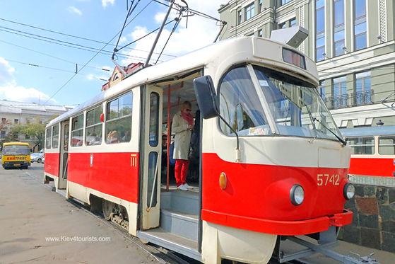 Tram in Kiev Ukraine