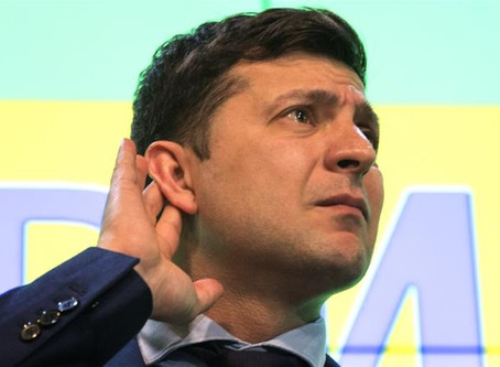 Comedian Volodymyr Zelensky is President of Ukraine.