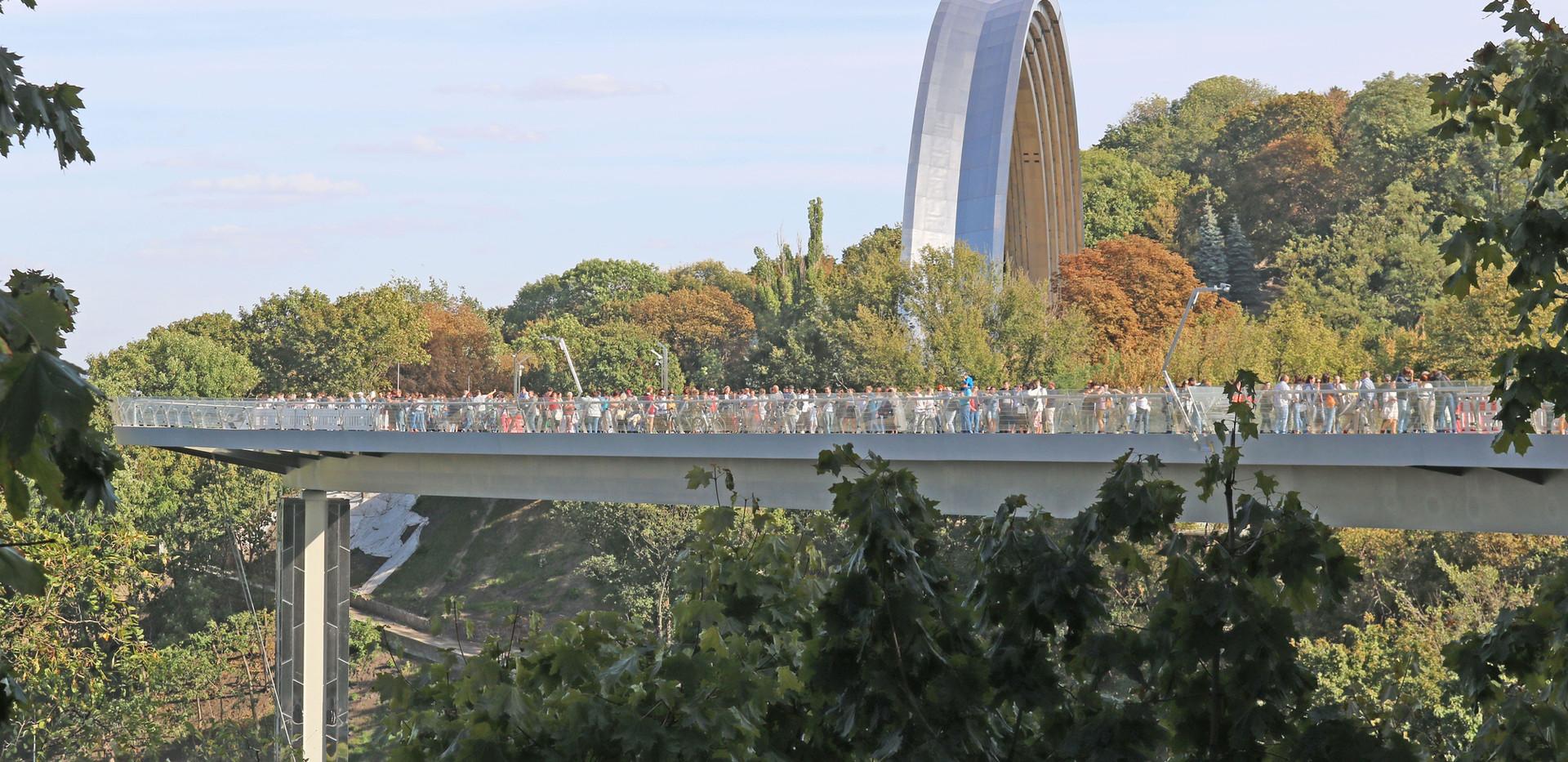 Glass Pedestrian Bridge Kiev