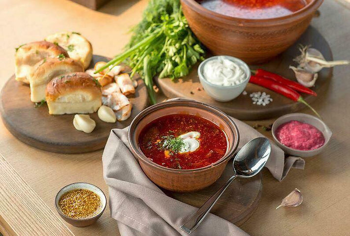 Ukrainian red borscht
