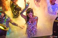 Girl dancing in nightclub Kiev Ukraine