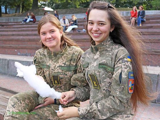 Army girls from Kiev