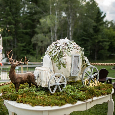 Cinderella carriage with deer