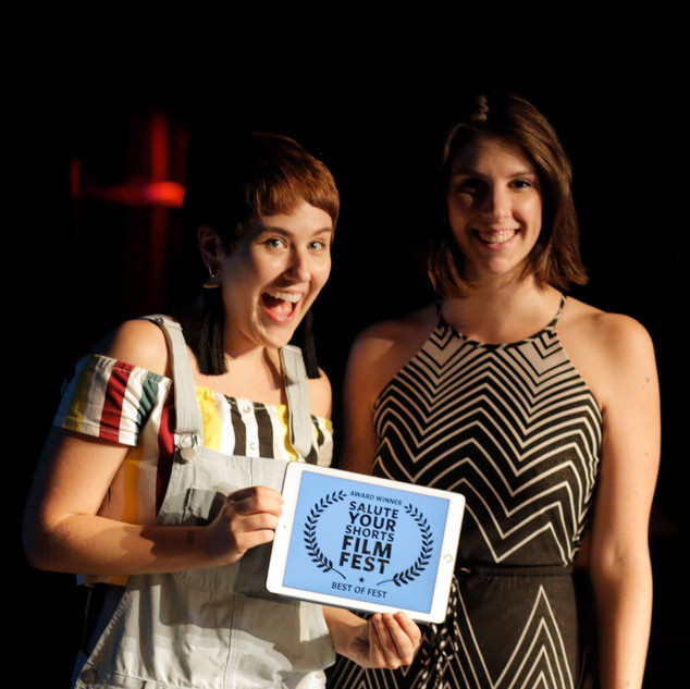 Laura Holiday and Anna Baumgarden win BEST OF FEST with Disfluency
