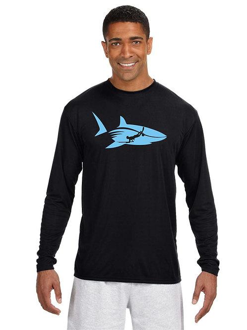 Spearo & Shark Long Sleeve - Blue