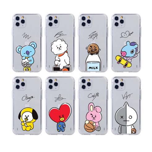 [BT21] BT21 Hangout Cutie Clear Jelly Case
