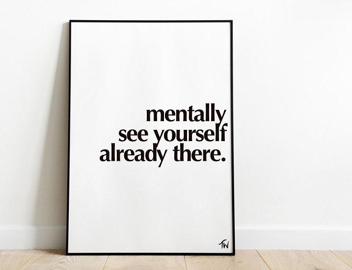 Mentally visualise
