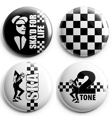Ska Set 1 Button Badges