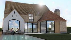 3d visualisatie landelijke woning