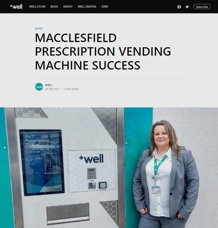 well pharmacy pharmaself24 medicine collection vending machine