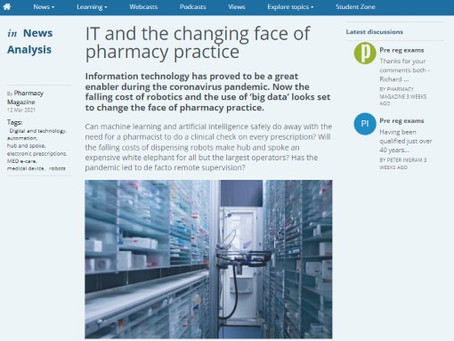 Pharmacy Magazine: IT and the changing face of pharmacy practice