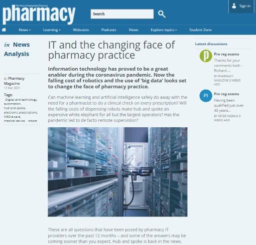 Pharmacy Magazine IT in pharmacy practice
