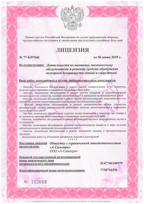 Лицензия МЧС стр1