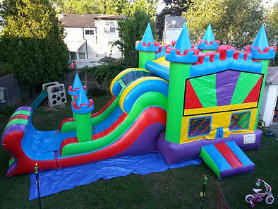inflatable water slides to rent near me