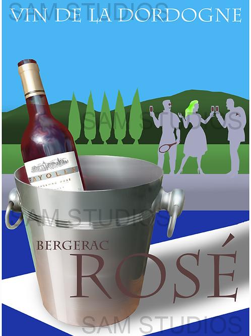 Art Deco Wine poster - Wine bucket