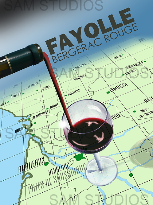 Art Deco Wine poster - Aquitaine