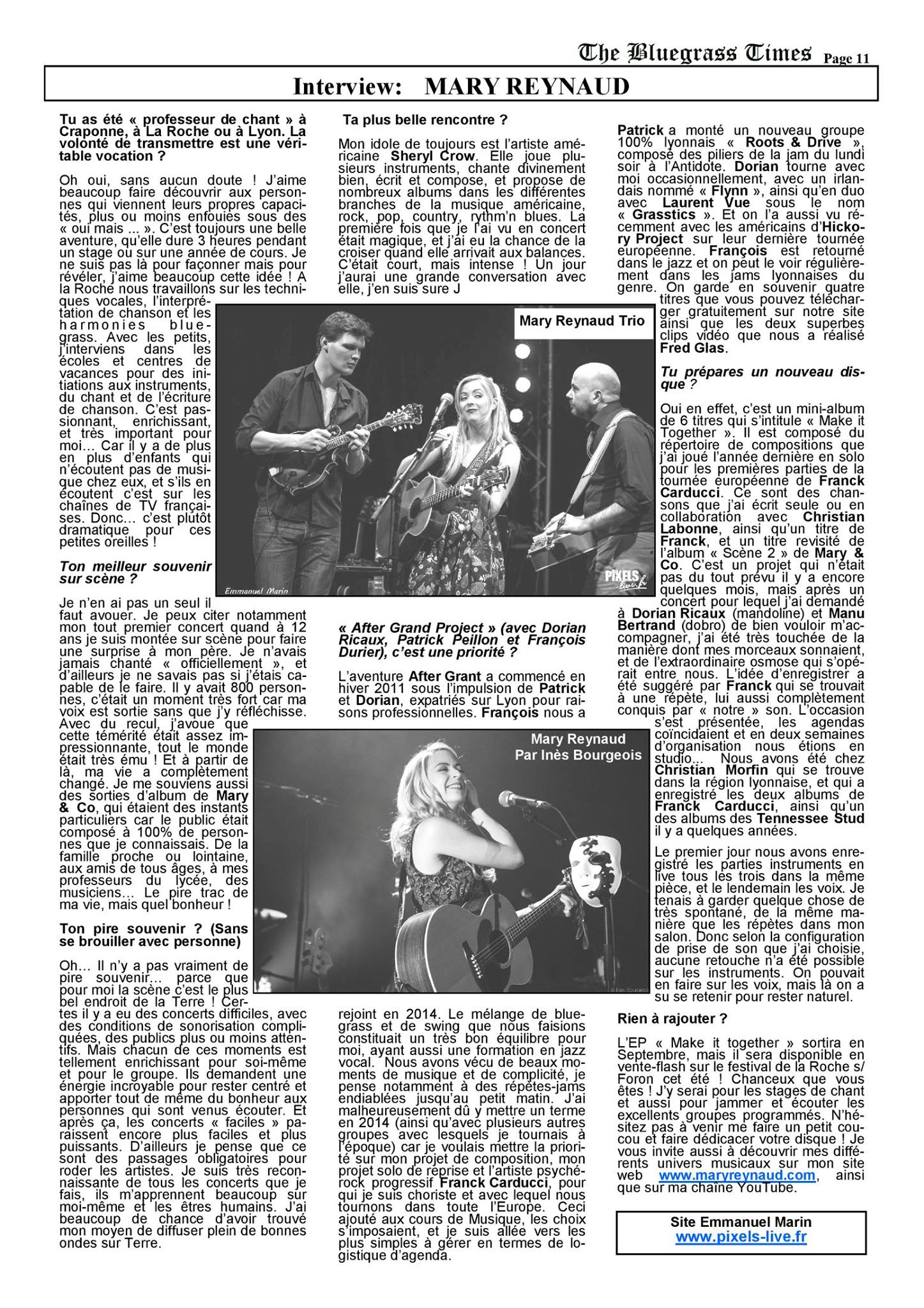 Bluegrass Times - Mary Reynaud