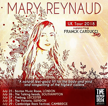 Mary Reynaud UK tour 2018