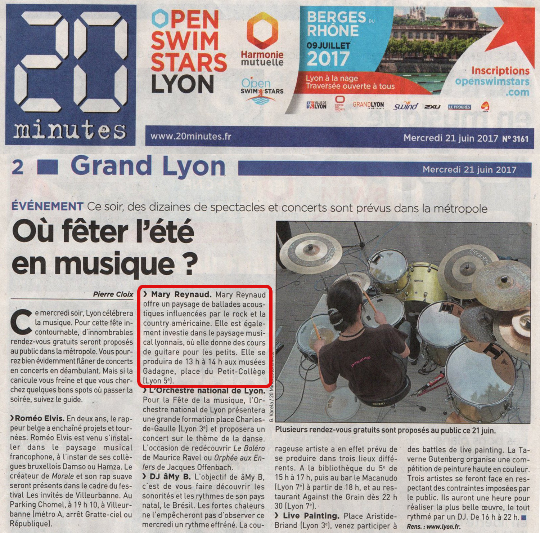 20 Minutes Lyon - 21/06/2017