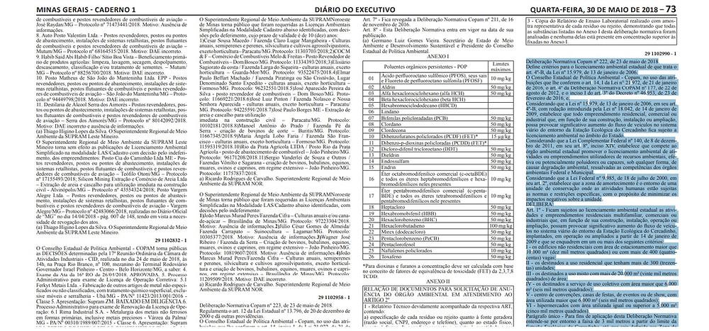 DN 222/2018 publicada no Diário Oficial do Município de 23 de maio de 2018.