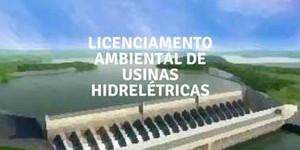 Imagem de usina hidreletrica para ser licenciada
