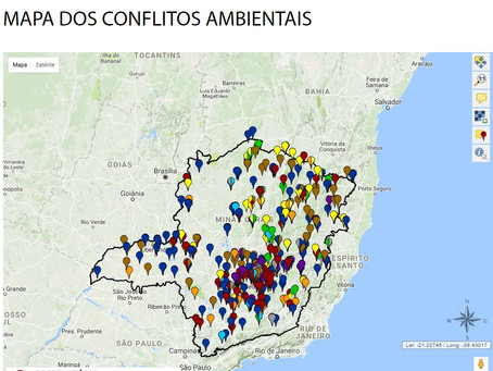 Grupo de Estudos em Temáticas Ambientais da UFMG gera mapa de conflitos socioambientais