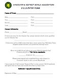 V&D Events entry form
