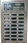 Plaque - Tony boucher Australian Pairs.p