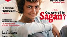 Sagan en couverture du Magazine Littéraire