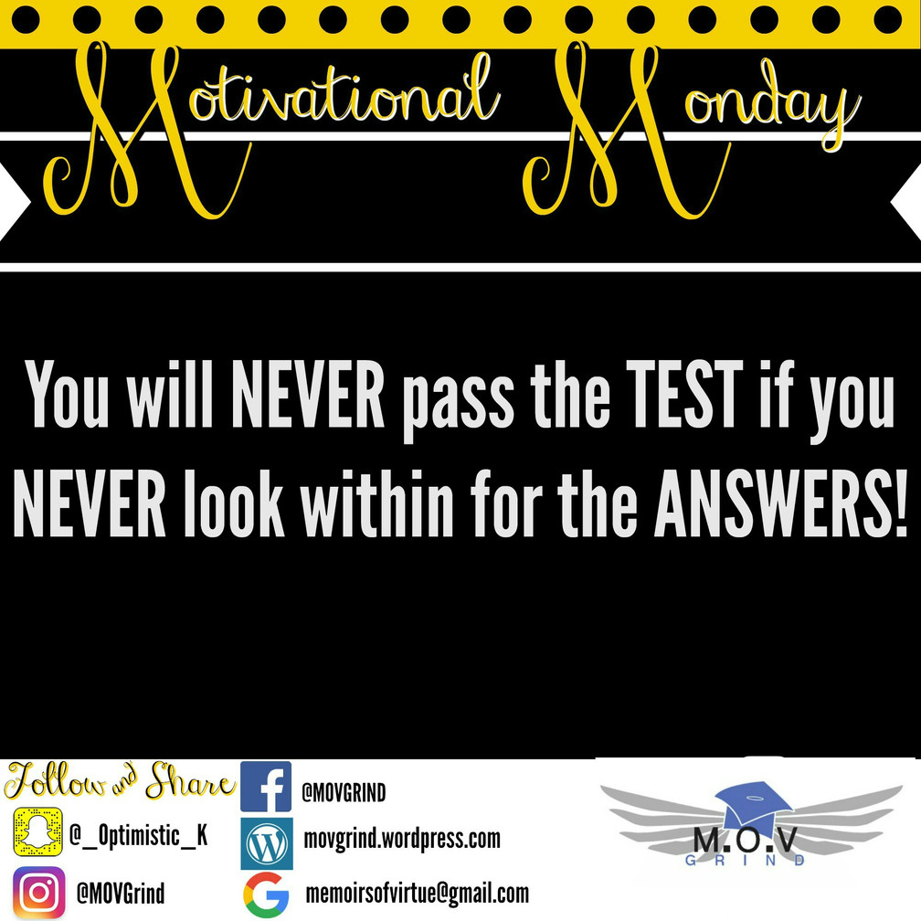 Motivational Monday: ANSWERS!