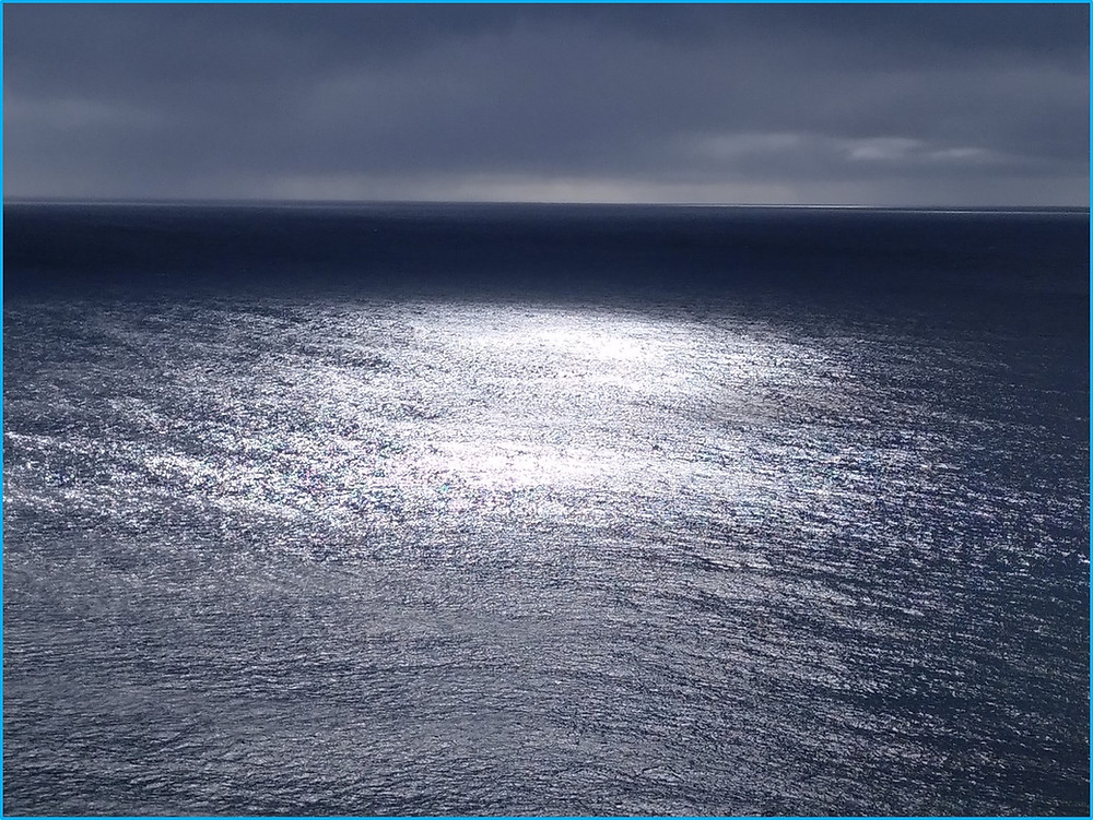Sunlight on the sea