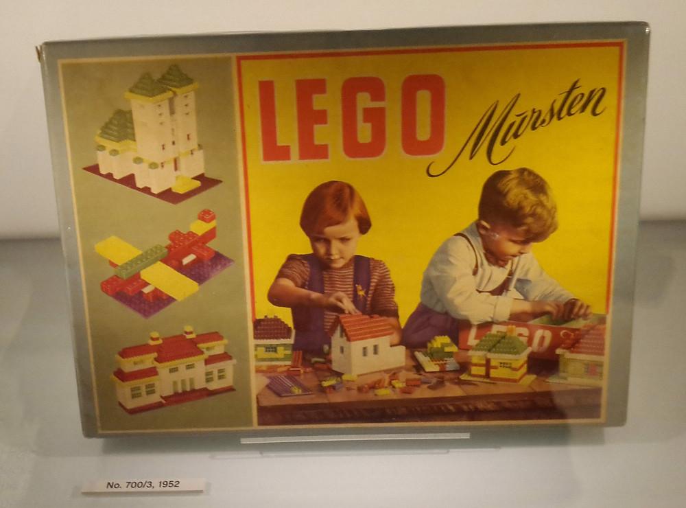 Vintage Lego kit from 1952, Lego House, Billund