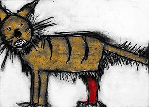 Cat with red leg J Carpenter