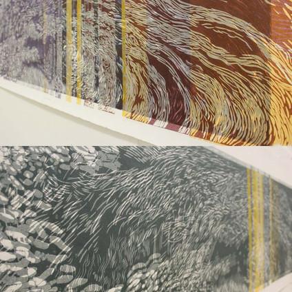 Dreaming Streaming Linocut 80cmx250cm.jp