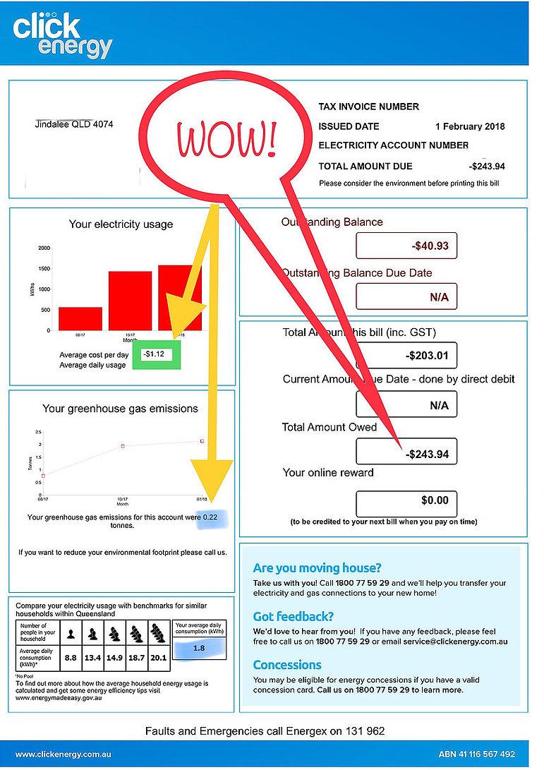 Electricity Bill In Credit