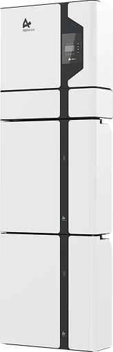 Alpha ESS SMILE 5 solar battery inverter white with black lines wall mounted with backup power