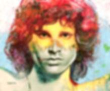 jim morrison acrylic painting