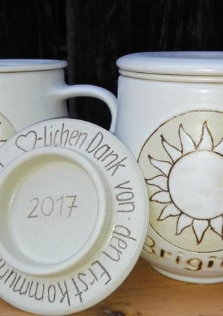 Keramik Teehäferl 3-teilig