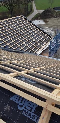 Eingelattete Dachfläche