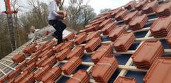 Dachfläche während der Sanierung
