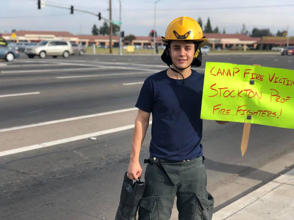 Showing Support for Fill the Boot Fundraiser