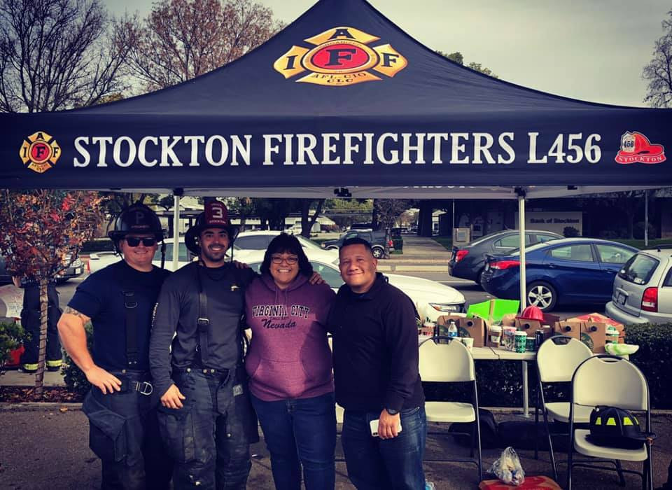 Showing Support for the Fill the Boot Fundraiser