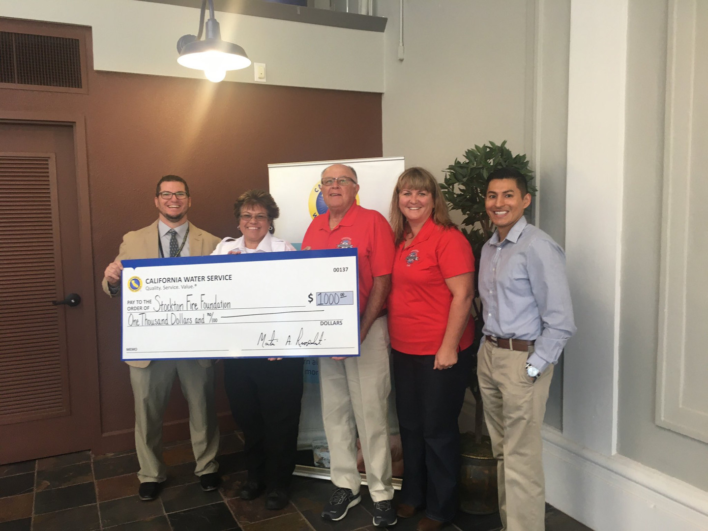 California Water Service Check Presentation