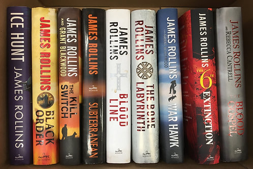 James Rollins' set of 9 hardcovers! Excellent condition!